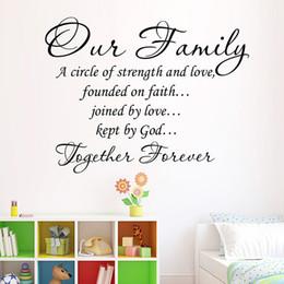 Amovible Sticker Mural Notre Famille Ensemble Pour Toujours Adhésif Art Mots Stickers Citations Lettres Adhésives Décor À La Maison Salon ? partir de fabricateur