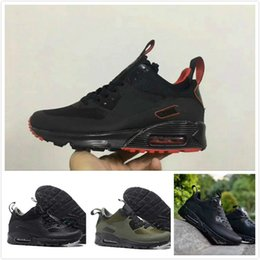 Wholesale Shoes Mans Air 87 - 270 360 87 350 700 750 Drop Shipping Famous Cushion 90 Mid Winter Boots Mens Athletic Sports Training Sneakers Running Shoes Air Size 40-45