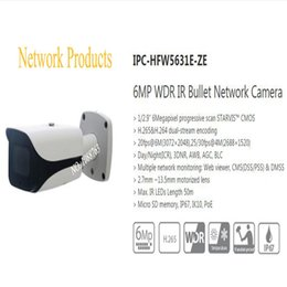 Wholesale Ip Camera Outdoor Wdr - Free Shipping DAHUA Outdoor IP Camera 6MP WDR IR Bullet Network Camera with POE without Logo IPC-HFW5631E-ZE