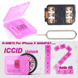 Wholesale perfect card - R-SIM12 Perfect Unlocking IOS11 RSIM12 for IOS11 -IOS7 Rsim 12 Rsim 12+ Unlock SIM Card for iphoneX i8 8p 7 7p 4G 3G