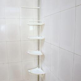 Wholesale Shelf Trays - High Quality Bathroom Corner Rack Heavy Duty Tray Wall Sucker Edge Plastic Organizer Bathroom Shelf Storage