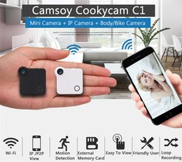 Wholesale Ip Optical - C1 Mini Camera HD 720P C1 WIFI P2P Wearable IP Camera Motion Sensor Bike Body Micro Mini DV DVR Magnetic Clip Voice Recorder
