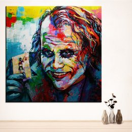 2019 olio di batman Pittura a Olio di Stampa di grandi dimensioni POP Joker Batman NO-3 Pittura murale Decor Wall Art Picture For Living Room painting No Frame olio di batman economici