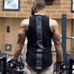camisas de musculação para homens Desconto 2018 New Bodybuilding Algodão Academias de Fitness Stringer Homens Muscle Guys Sem Mangas Colete Camisola Regatas Sportswear Undershirt