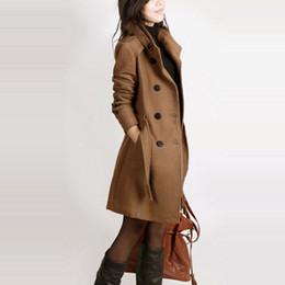 Langarm Winter Wollmantel Frauen Europa Stil plus Größe Casaco Feminino Damen Herbst neue dünne lange Wollmäntel Z5405 von Fabrikanten