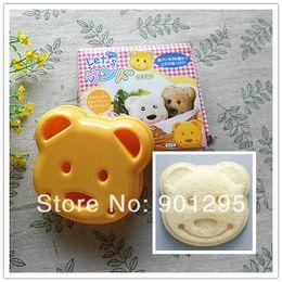 медведь марки Скидка Оптово-бесплатная доставка Cute Smiley Face Bear 3D суши-формы сэндвич / сыра / ветчины для резки пресс-формы и штампы для риса