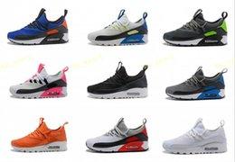 2018 Hot Sale Zapatillas 90 Ez zapatos casuales de calidad superior 90 s negro blanco rojo gris azul verde hombres zapatos de vestir zapatillas de deporte tamaño 40-46 desde fabricantes