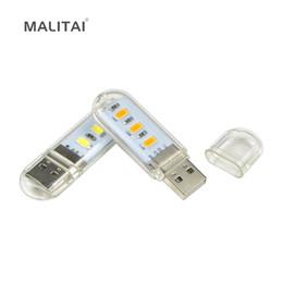 il buco della serratura automatico ha condotto la luce Sconti Novità Mini USB LED Lampade da tavolo 3 LED 5730 SMD 1.5w Lampadina da campeggio Per PC Laptop Notebook Lettura Luce diurna