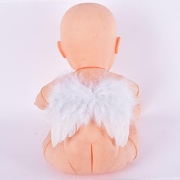 Puntelli fotografia ala online-Baby Feather Fata Angel Wings Photography Puntelli Costume Party Decor 6-18 Mesi