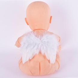 Baby Feather Fairy Angel Wings Фотография Реквизит Костюм для вечеринки Декор 6-18 месяцев от Поставщики оптовые перья для шитья