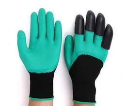 Wholesale Washing Latex Gloves - Hot Gardening Gloves for Garden Digging Planting Garden Genie Gloves with 4 ABS Plastic Claws