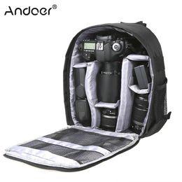 2019 bolso de la cámara del agua Andoer DSLR Camera Bag Camera Video Backpack Bolsas Respirables Multifuncionales resistentes al agua con trípode Outdoor bolso de la cámara del agua baratos