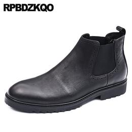 75a79cd58ea 2019 botas de invierno italianas Botas de invierno Formal para hombre  Zapatos de tacón alto Botines
