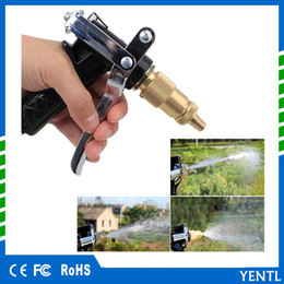 Wholesale Pressure Wash Car - High Pressure Water Gun Spray Plastic Copper Nozzle For Car Washing Garden Watering Garden Hose Gun Auto Brass Metal wholesale price