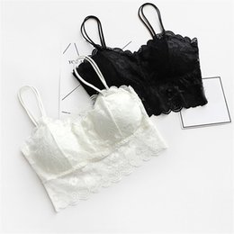 74b4186a8f346 1PC Sexy Women V-Neck Vest Lace Floral Harness Hollow Camisole Bra Blouses  Tank Tops Crop Top