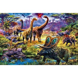 Pittura diamante 5d dinosauro Pieno di diamanti ricamo fai da te resina pietra mosaico di arte pittura diamante punto croce imposta decorazione della parete artigianato da