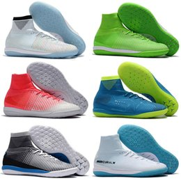 Homens sapatos de futebol de interior on-line-Botas de Futebol Mercurial Superfly CR7 V TF Homens indoor Neymar JR Superflys ACC Futebol Interior Sapatos Chuteiras De Futebol Relvado