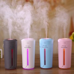 Car humidifier night new color cup humidifier USB mini desktop air purifier office home silent spray lamp air purifier