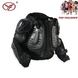 Chaqueta de moto protector de pecho online-Junior Body protector Motocross Motocicleta Kids Youth chaleco completo Armor Jacket Spine Chest Protection Gear Negro ENVÍO GRATIS
