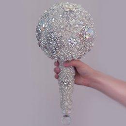 Luxueux Cristal Perle Strass Bouquet De Bijoux De Mariage Bouquet De Mariage À La Main Artificielle Fleurs De Mariage Bouquet De Mariée ? partir de fabricateur