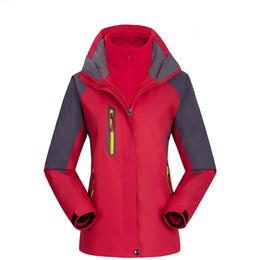 Women Outdoor Hiking Jackets 3 in 1 Softshell Windbreaker Mountaineering Suit  Waterproof Breathable Warm Fleece Winter Ski 887 cheap new 02178cacc