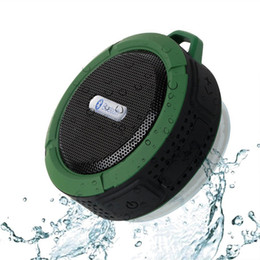 Wholesale mini speaker fast shipping - C6 Speaker Bluetooth Speaker Wireless Potable Audio Player Waterproof Speaker Hook And Suction Cup Stereo Music Player Fast Ship!
