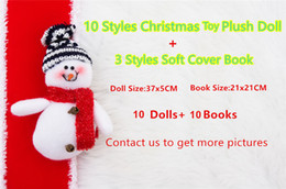 Wholesale Free Soft Books - DHL 20pcs lot:10pcs dolls and 10pcs Books soft Cover For Kids Holiday Christmas Gift The Chritmas Creativity Gift Free Shipping 2017 Hot