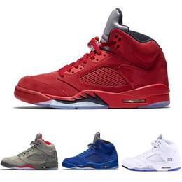 pretty nice 05b54 b97e3 NIKE Air Jordan 5 Zapatillas de baloncesto para hombre 2018 5 5s Azul rojo  gamuza blanca Mermelada espacial Oreo OG Metallic Negro Olímpico Zapatillas  ...