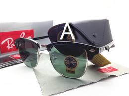 Wholesale Vintage Sunglasses Sale - New 51mm 3016 Sale Aviator RAY Sunglasses Vintage Pilot Brand Sun Glasses Band UV400 BANS Men Women Ben wayfarer sunglasses