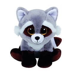 Ty Beanie Boos Gray Raccoon Name BANDIT Plush Doll Toys for Girl No Tag 6