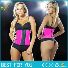 281fe6974 9 steel bone Latex Rubber body shaper Waist Trainer training corsets Corset  Latex Corset Sexy Women Latex Waist Cincher Slimming Shapewear