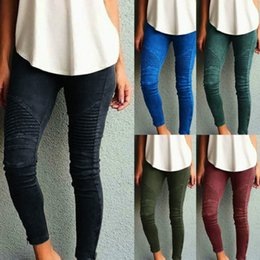 Wholesale Leggings Size L - Sexy Women Jeans Skinny Jeggings Stretchy Slim Fit Leggings Skinny Pants High Elastic Waisted Outdoor Pants 6 Styles Plus Size XS-5XL