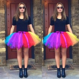 Wholesale tulle crinoline short - Spring Summer Colorful Petticoat For Bridal Dresses Wedding Accessory Underskirt short tutu tulle skirt ready to wear bridal gown