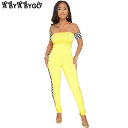 4b5f38e3c50 ABYABYGO 2018 Summer Jumpsuit for Women Sexy Racing Suits Plaid Casual Bodycon  Outfits Overalls Clubwear Jumpsuit Big Size 3XL
