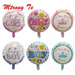 nouveauté jouet grossistes Promotion 50 pcs 18 pouces ronde Foil Helium Ballons Princesse Prince Bébé Garçon Bébé Fille Bébé Douche Fête D'anniversaire Fournitures Décor Enfants Jouets