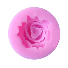 Силиконовые формы для мыла онлайн-Pastry Mould 1PC 3D Rose Flower Shape Silicone Chocolate Soap Mold Baking Pan Cake Decorating Tools Kitchen Baking Accessories