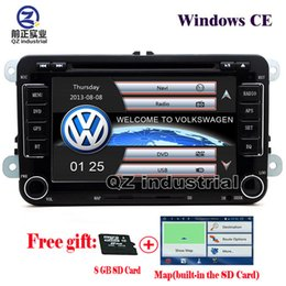 Wholesale Vw Tiguan Gps - QZ 1080P rns510 2din 7inch Car DVD player for VW JETTA PASSAT B6 CC GOLF 5 6 POLO Touran Tiguan Caddy SEAT with radio Wifi GPS 3G Navigation
