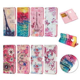 Wholesale Galaxy Pocket Strap - For Samsung Galaxy S9 Plus S9Plus 3D PU Leather Phone Wallet Case Back Cover Shell Flip Cellphone With Stand Kickstand Hand Rope Strap Cases