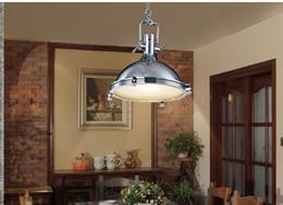 American Style Vintage Lampe RH Industrie Chrom Pendelleuchte Land  Pendelleuchten Rustikale Loft Restaurant Küche Pendelleuchten Amerikanischer  Landhausstil ...