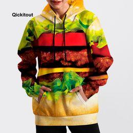 jersey de hamburguesa Rebajas 2018 Hombres / Mujeres Fresco Hamburguesa Sudadera Hip-Hop Sudadera Primavera Manga Larga Moda Calle Casual Suéter de bolsillo
