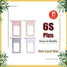 tarjeta sim iphone nano Rebajas Para el iPhone 6s más el soporte de la bandeja de la ranura de la tarjeta SIM Nano Reemplazo Kit de adaptador Repare las piezas de repuesto para el iphone 6SP 5.5 pulgadas