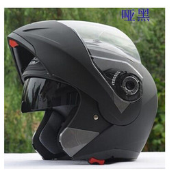 Wholesale Visor Motorcycle - JIEKAI 105 Dual Visor Motorcycle helmets Modular Flip Up Motocross helmet racing double lens capacete casco Motorcycle helmet