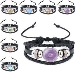 Amour meilleur maman jamais verre Cabochon Bracelet en cuir multicouche Wrap Bracelet Bracelet manchette Bracelets Bijoux cadeaux fête des mères cadeaux Drop Shipping ? partir de fabricateur
