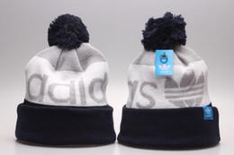 Wholesale Winter Sports Caps - 2018 Winter Caps wholesale sport Beanie Knitted Caps casual Beanies Skull Hats Men Women