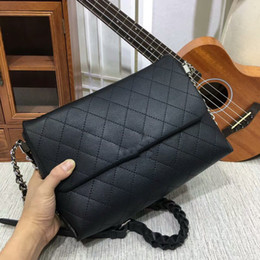 Wholesale Diamond Cross Strap - Fashion Bags Luxury Chain Cowhide Leather flap Bag Women bag Grained Brand Shoulder Braided Strap Bags Lady Handbags Bags Totes 80041