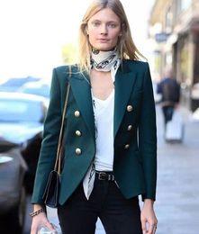 V-neck Lapel neck Long sleeves Double breasted Pocket Women's Suits runway hot fashion new wholesale Paris style Occident style de Fornecedores de senhoras longas casacos de vestido vermelho