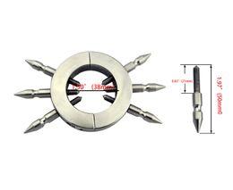 2019 anéis de torneira de aço ajustável Aço inoxidável anel spike anel galo bola bondage engrenagem anel com seis dentes ajustáveis cbt brinquedos fetiche fantasias XCXA197