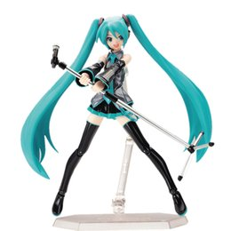 hatsune miku toys Coupons - Surwish 15cm Movable Anime Action Figure Hatsune Miku Model Toy Doll Toy -Blue