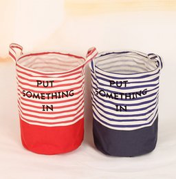 Wholesale Middle Child Clothing - Toy storage basket children room organizer folding bag with handle self stand clothes storage laundry basket middle size 27x23cm