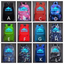 Wholesale student swimming - 12 Colors 47*31*18 CM Fortnite Boys Girls' Backpacks Casual Teenagers Backpack Outdoors Bags Students School Bag Waterproof Large Capacity